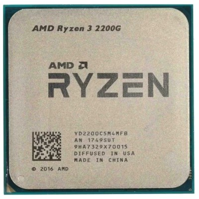 Процессор AM4 AMD Ryzen R3-2200G 3700Mhz OEM