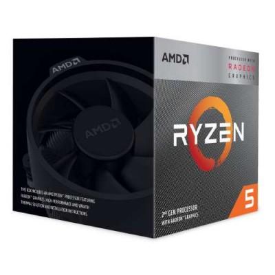 Процессор AM4 AMD Ryzen R5-2400G 3700Mhz BOX