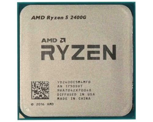 Процессор AM4 AMD Ryzen R5-2400G 3700Mhz OEM