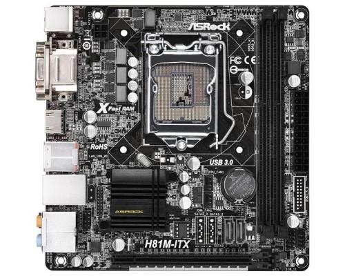Материнская плата 1150 Asrock H81M-ITX mini-ITX