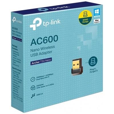 WiFi USB TP-Link Archer T2U Nano AC600 двухдиапазонный USB2.0 адаптер