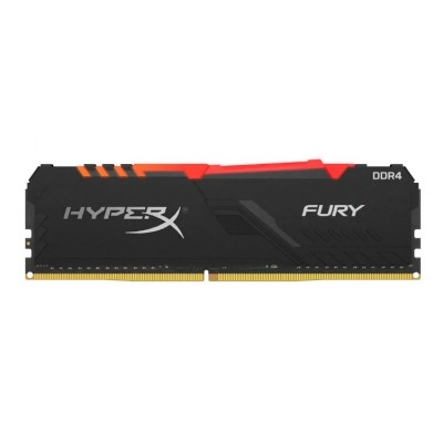 Модуль памяти DDR4 8Gb Kingston 2666MHz HyperX FURY RGB CL16 (HX426C16FB3A/8)