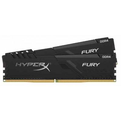 Модуль памяти DDR4 32Gb (2x16Gb) Kingston 2666MHz HyperX FURY Black CL16 (HX426C16FB3K2/32)