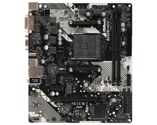Материнская плата AM4 ASRock B450M-HDV R4.0