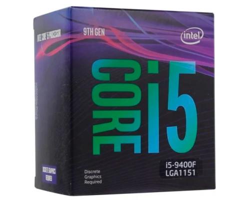 Процессор 1151v2 Intel Core i5 9400F 2900Mhz BOX