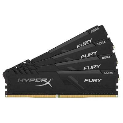 Модуль памяти DDR4 64Gb (4x16Gb) Kingston 2666MHz HyperX FURY Black CL16 (HX426C16FB3K4/64)