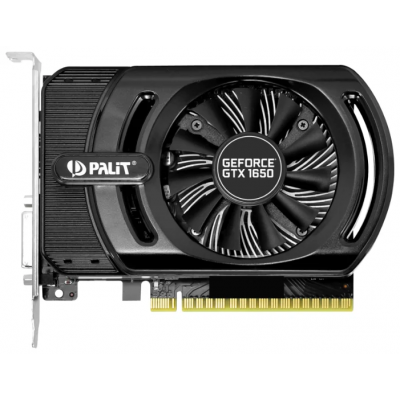 Видеокарта PCI-E GeForce GTX1650 4Gb Palit StormX OC PA-GTX1650