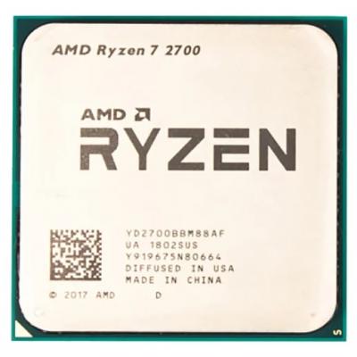 Процессор AM4 AMD Ryzen R7-2700 3600Mhz OEM
